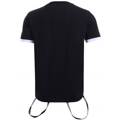 BoyNewYork Striped Braid Purfled Cuffs T-ShirtBoyNewYork<br>BoyNewYork Striped Braid Purfled Cuffs T-Shirt<br><br>Material: Cotton<br>Sleeve Length: Short<br>Collar: Round Neck<br>Style: Fashion<br>Weight: 0.252kg<br>Package Contents: 1 x T-Shirt<br>Pattern Type: Letter