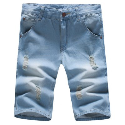 Mens 3 / 4 Jeans Shorts