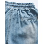 best Casual Distressed Design Drawstring Waistband Denim Shorts For Men
