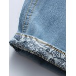 Casual Distressed Design Drawstring Waistband Denim Shorts For Men for sale