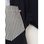 Stand Collar Color Block and Stripe Splicing Design Long Sleeve T-Shirt For Men deal