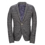 Vintage Lapel One Button Knitting Long Sleeve Blazer For Men