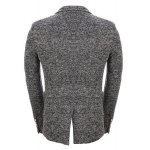 cheap Vintage Lapel One Button Knitting Long Sleeve Blazer For Men