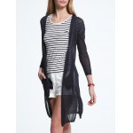Chic Pocket Design Buttoned Furcal Women's Cardigan