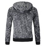 cheap Leopard Zippered Plush Hoodie For Men