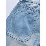 Stylish Light Wash Slim Fit Denim Shorts For Men photo