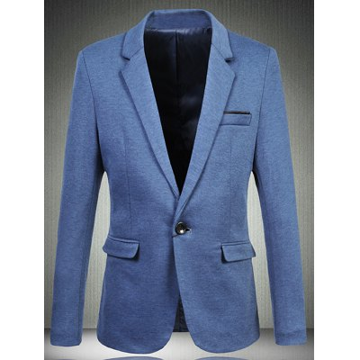 Trendy Notch Lapels Single Button Opening Casual Blazer For Men