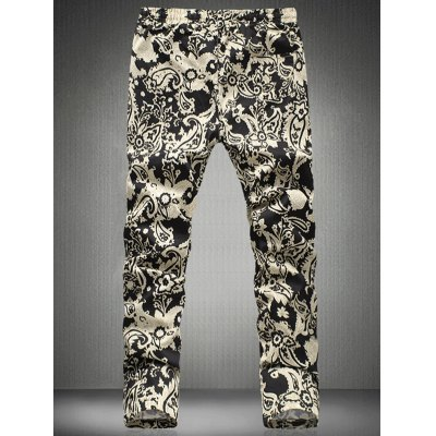 Chic Floral Print Drawstring Waistband Casual Pants For Men от GearBest.com INT