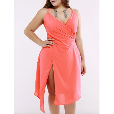 Oversized Novelty Side Slit Asymmetrical Summer Dress