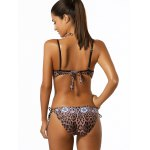 Spaghetti Strap Leopard Print One-Piece Swimwear for sale