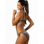 Spaghetti Strap Leopard Print One-Piece Swimwear deal