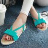 cheap Leisure Bow and Flat Heel Design Sandals For Women
