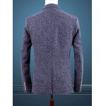 Blue Melange Notch Lapels Single Button Opening Casual Blazer For Men deal
