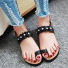 cheap Ladylike Flower and Faux Pearls Design Sandals For Women