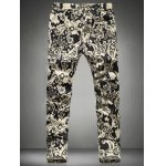 cheap Chic Floral Print Drawstring Waistband Casual Pants For Men