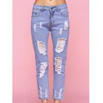 cheap Trendy Ripped Light Color Jeans