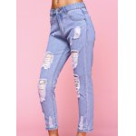 Trendy Ripped Light Color Jeans deal