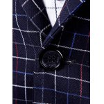 Gingham Faux Pocket One Button Blazer For Men deal