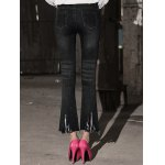 Row Edged Ripped Skinny Boot Cut Jeans for sale