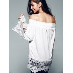 Off The Shoulder Lace Splicing Blouse for sale