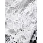 best Off The Shoulder Lace Splicing Blouse