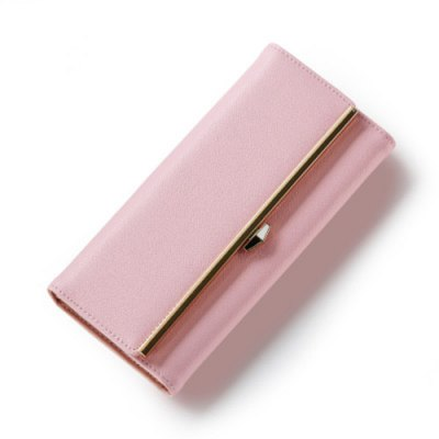 Stylish Metal and Magnetic Closure Design Wallet For Women