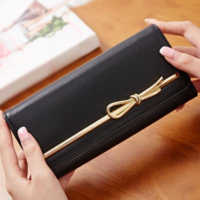 Metal Design Wallet For Women