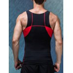 cheap Quick-Dry Round Neck Color Block Fitted Tank Top For Men