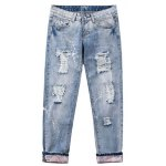 best Wash Bleach Destroyed Painted Jeans
