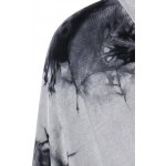 Scoop Neck Dolman Sleeve Tie-Dyed T-Shirt deal