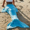 Simple Style Wool Knitting Fish Tail Design Blanket For Adult