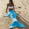 cheap Simple Style Wool Knitting Fish Tail Design Blanket For Adult