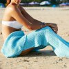 Simple Style Wool Knitting Fish Tail Design Blanket For Adult photo