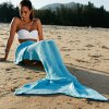 Simple Style Wool Knitting Fish Tail Design Blanket For Adult deal