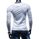 Brief Style Pure Color Pocket Design Long Sleeve Tee For Men deal
