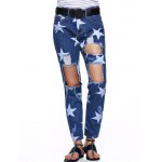 cheap Star Hole Ripped Distressed Jeans