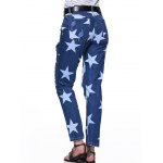 Star Hole Ripped Distressed Jeans for sale