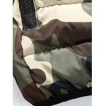 Camo Zip Up Double Sided Wear Hooded Padded Coat For Men photo