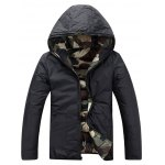 Camo Zip Up Double Sided Wear Hooded Padded Coat For Men deal