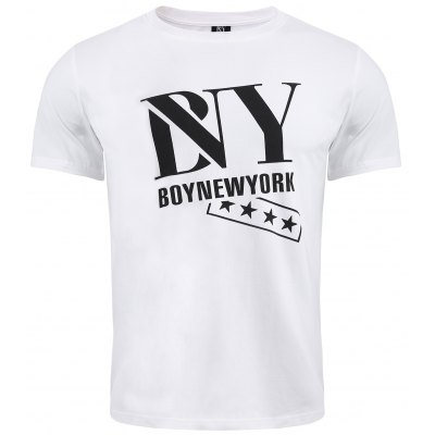 BoyNewYork Star Printing Short Sleeves T-Shirt