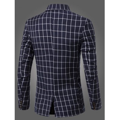 Casual Notched Lapel Collar Single Button Checked Blazer For MenMens Blazers<br>Casual Notched Lapel Collar Single Button Checked Blazer For Men<br><br>Material: Cotton Blends<br>Clothing Length: Regular<br>Sleeve Length: Long Sleeves<br>Closure Type: Single Breasted<br>Weight: 0.600kg<br>Package Contents: 1 x Blazer