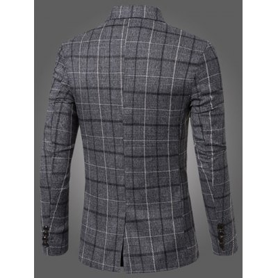 Vintage Notched Lapel Collar Single Button Slim Fit Striped Blazer For MenMens Blazers<br>Vintage Notched Lapel Collar Single Button Slim Fit Striped Blazer For Men<br><br>Material: Cotton Blends<br>Clothing Length: Regular<br>Sleeve Length: Long Sleeves<br>Closure Type: Single Breasted<br>Weight: 0.457kg<br>Package Contents: 1 x Blazer
