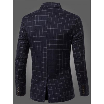 Classic Notched Lapel Collar Checked Double Breasted Blazer For MenMens Blazers<br>Classic Notched Lapel Collar Checked Double Breasted Blazer For Men<br><br>Material: Cotton Blends<br>Clothing Length: Regular<br>Sleeve Length: Long Sleeves<br>Closure Type: Double Breasted<br>Weight: 0.441kg<br>Package Contents: 1 x Blazer