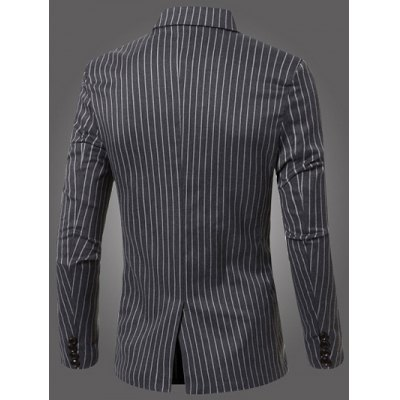 Classic Striped Notched Lapel Collar Long Sleeve Blazer For MenMens Blazers<br>Classic Striped Notched Lapel Collar Long Sleeve Blazer For Men<br><br>Material: Cotton Blends<br>Clothing Length: Regular<br>Sleeve Length: Long Sleeves<br>Closure Type: Single Breasted<br>Weight: 0.442kg<br>Package Contents: 1 x Blazer