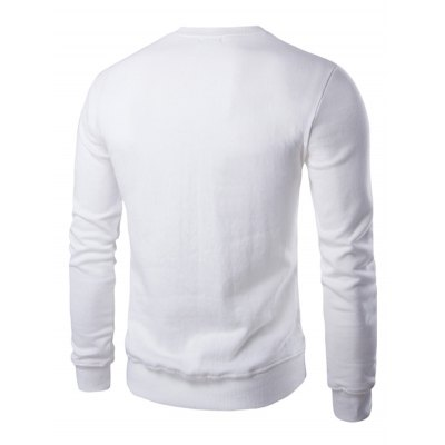 Letter Print Crew Neck Long Sleeve Pullover Sweatshirt For MenMens Hoodies &amp; Sweatshirts<br>Letter Print Crew Neck Long Sleeve Pullover Sweatshirt For Men<br><br>Material: Polyester<br>Clothing Length: Regular<br>Sleeve Length: Full<br>Style: Casual<br>Weight: 0.214kg<br>Package Contents: 1 x Sweatshirt