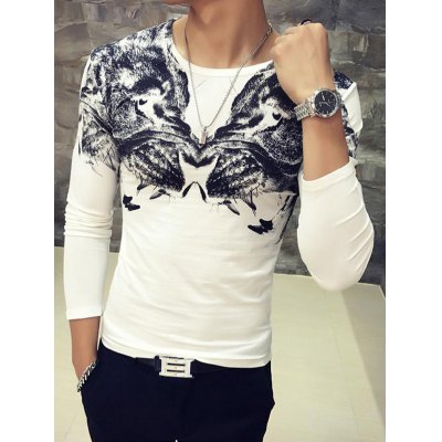 3D Symmetrical Animal Print Round Neck Long Sleeve T-Shirt For MenMens Long Sleeves Tees<br>3D Symmetrical Animal Print Round Neck Long Sleeve T-Shirt For Men<br><br>Material: Cotton,Polyester<br>Sleeve Length: Full<br>Collar: Round Neck<br>Style: Fashion<br>Embellishment: 3D Print<br>Pattern Type: Animal<br>Season: Fall,Spring<br>Weight: 0.231kg<br>Package Contents: 1 x T-Shirt