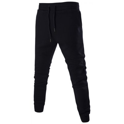 Number Print Drawstring Jogger Pants For Men