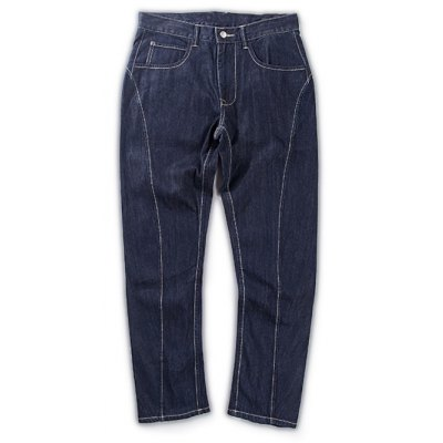 Brief Solid Color Splicing Jeans For Men