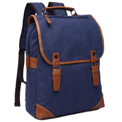 Stylish Color Block and Double Buckle Design Backpack For Men