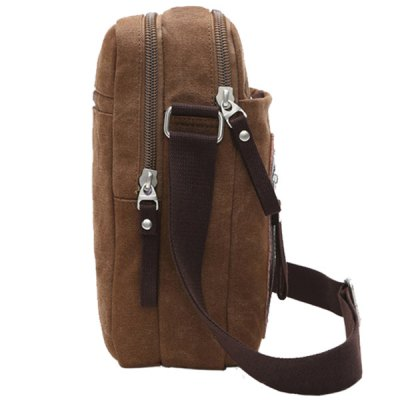 Leisure Zippers and Canvas Design Messenger Bag For MenMens Bags<br>Leisure Zippers and Canvas Design Messenger Bag For Men<br><br>Gender: For Men<br>Pattern Type: Patchwork<br>Closure Type: Zipper<br>Main Material: Canvas<br>Length: 21CM<br>Width: 7.5CM<br>Height: 26.5CM<br>Weight: 0.550kg<br>Package Contents: 1 x Messenger Bag